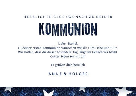 Gratulationskarte Kommunion Sterne & Jeans 3