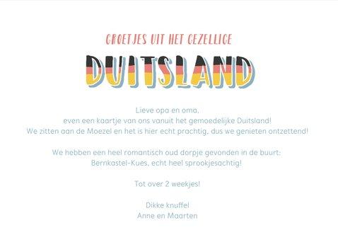 Groeten uit Duitsland met grappige landkaart en fotocollage 3