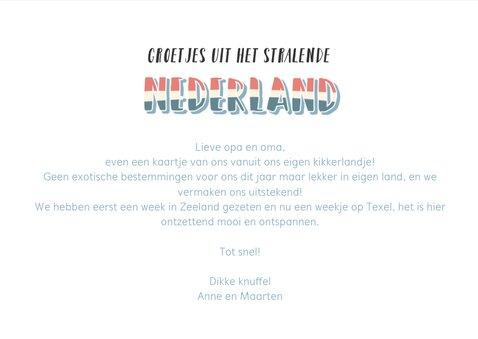 Groeten uit Nederland met grappige landkaart en fotocollage 3
