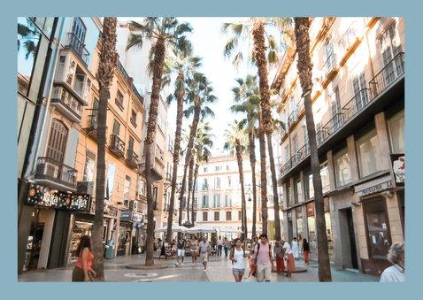 Groeten uit Spanje met grappige landkaart en polaroid foto's 2
