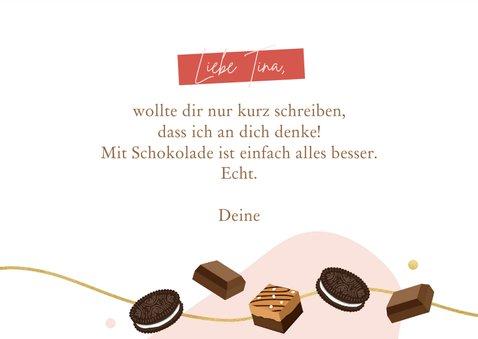 Grußkarte 'Enjoy life, eat chocolate' 3
