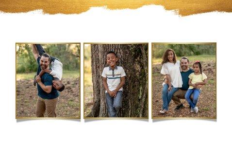 Grußkarte Goldlook mit fünf Fotos 2