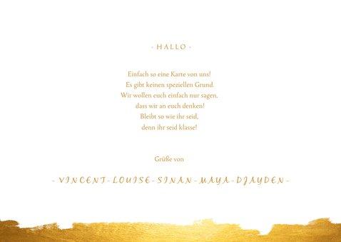Grußkarte Goldlook mit fünf Fotos 3