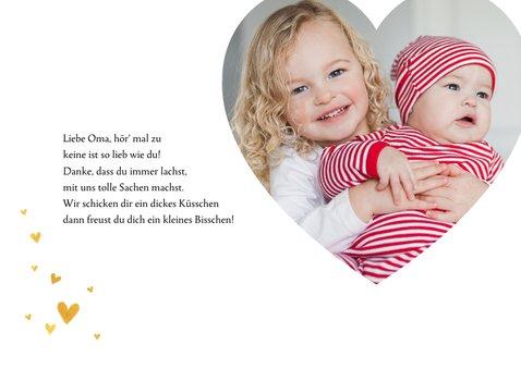 Grußkarte 'Liebe Oma' mit eigenem Foto 2