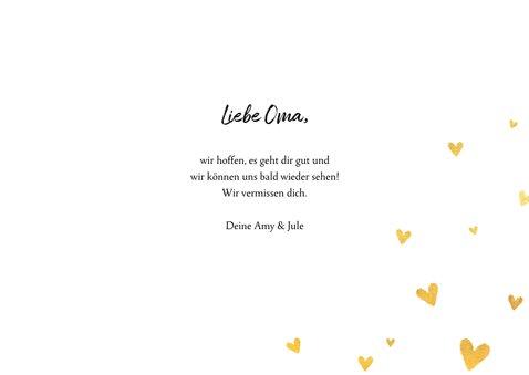 Grußkarte 'Liebe Oma' mit eigenem Foto 3