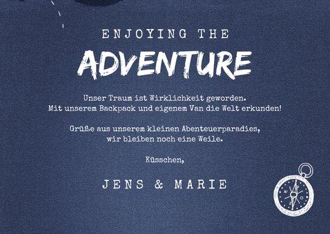 Grußkarte Reisen 'Enjoying the adventure' Fotos innen 3
