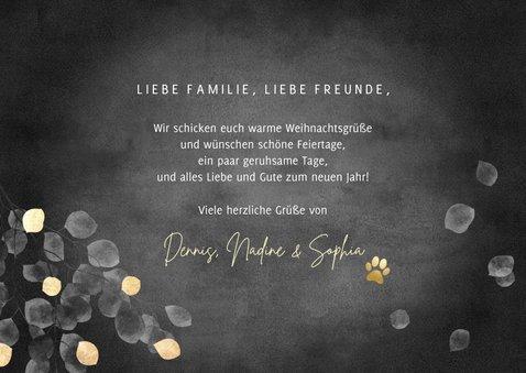 Grußkarte Weihnachten Fotocollage Goldblätter 3