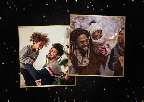 Grußkarte Weihnachten 'Merry Christmas' Foto & Sterne 2