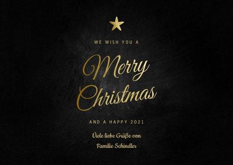 Grußkarte Weihnachten 'Merry Christmas' Foto & Sterne 3
