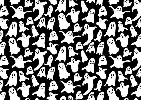 Halloween feest fotokaart met spoken 2