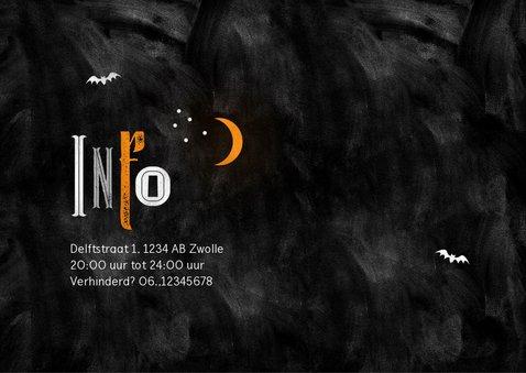 Halloween feest uitnodiging happy halloween typografie 2