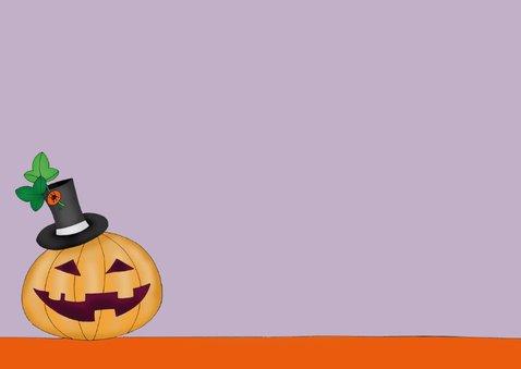 Halloween kat slaapt op pompoen - SK 3