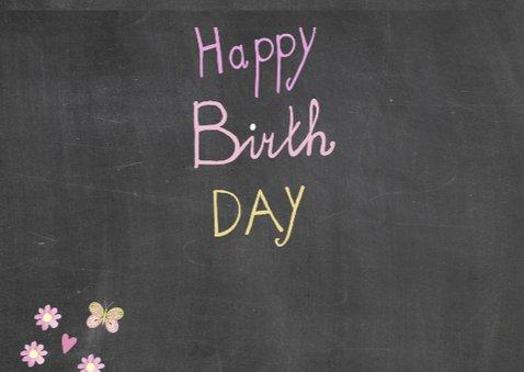 Happy birthday schoolbord 3