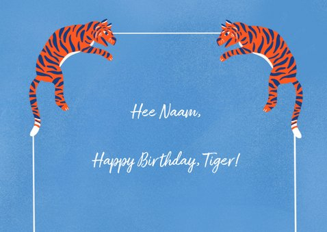 Happy Birthday tiger 2