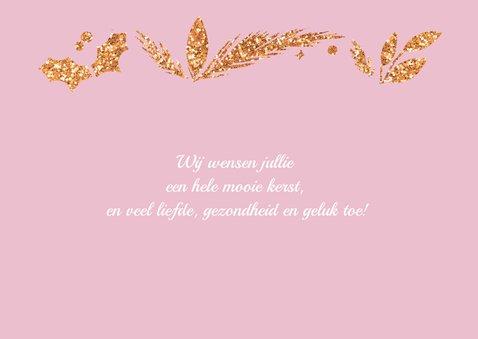 Happy Holidays roze met foto 2
