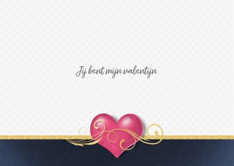 Hart met gouden krul liefde kaart 3