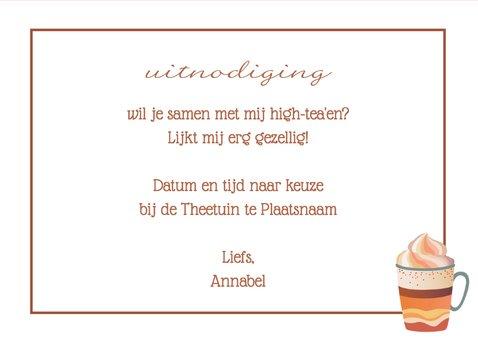 High Tea uitnodiging - DH 3