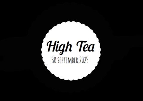 High Tea Uitnodiging Zwart Wit 2