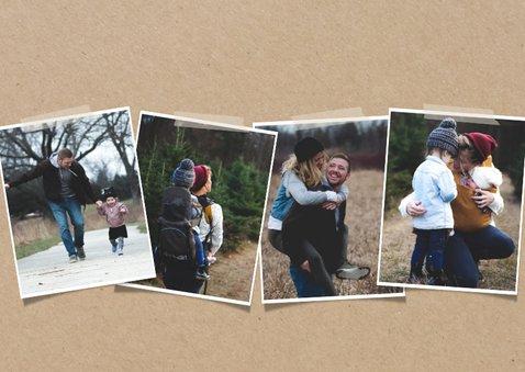 Hippe fotocollage kaart met happy new year 2