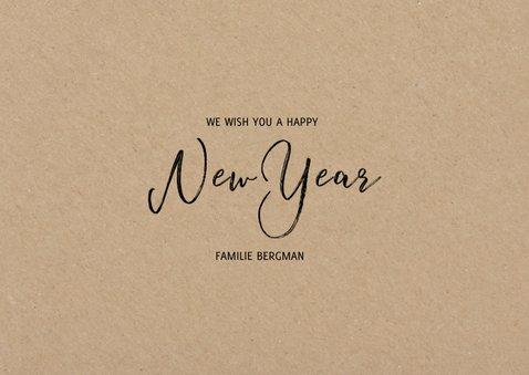 Hippe fotocollage kaart met happy new year 3