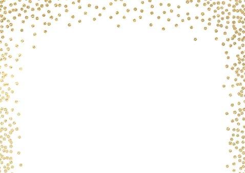 Hippe kerstkaart met kader van sneeuw confetti 2