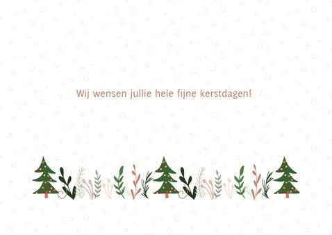 Hippe kerstkaart met versierde tekst Merry Christmas 3