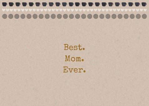 Hippe moederdagkaart craftpapier high tea 2