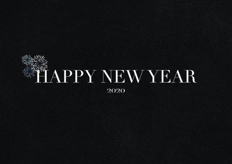 Hippe Neujahrskarte Foto und Happy New Year 2