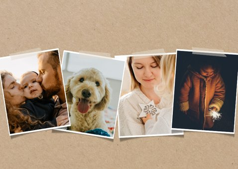 Hippe nieuwjaarskaart met fotocollage 2