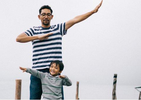 Hippe vaderdagkaart met grote foto en tekst de stoerste papa 2