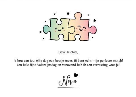 Hippe valentijnskaart met eigen foto en puzzelstukjes 3