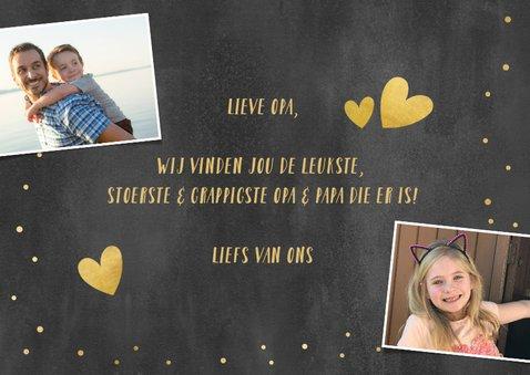 Hippe valentijnskaart met foto voor de leukste opa! 3