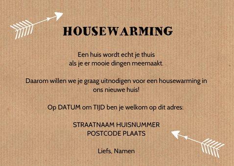 Housewarming uitnodiging fotocollage kraftprint 3