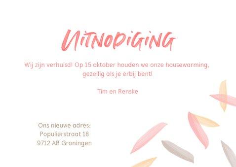 Housewarming uitnodiging verfletters 3