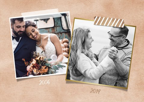 Huwelijksjubileum 12,5 jaar - Fotocollage uitnodiging koper 2