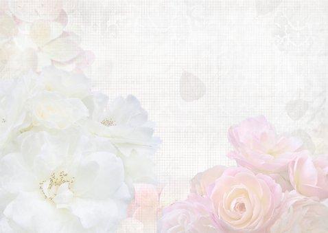Jarig met witte en roze rozen 3