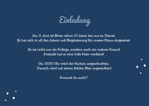 Jubiläumskarte Dienstjubiläum mit Foto 3