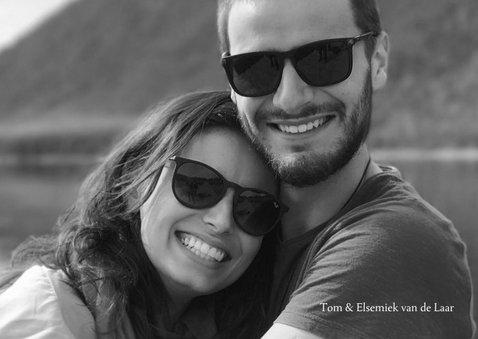 Jubileum 12,5 jaar getrouwd met grote foto en goudlook 2