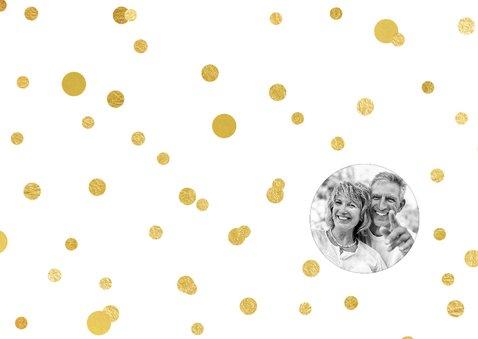 Jubileum gouden ballonnen met confetti 2