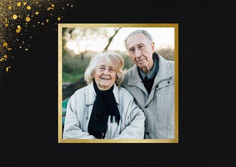 Jubileum uitnodiging vijftig jaar met 3 foto's 2