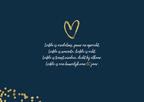 Jubileumfeest uitnodiging 50 jaar confetti goud foto 2