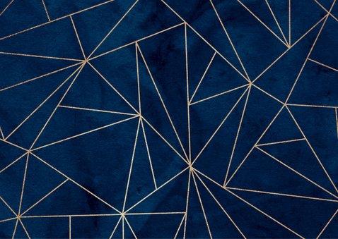 Jubileumfeest uitnodiging geometrisch goud stijlvol foto 2