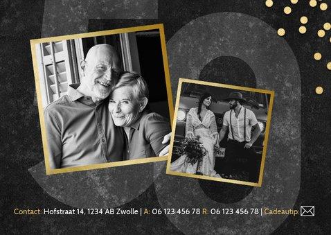 Jubileumkaart 50 jaar getrouwd gouden confetti en foto's 2