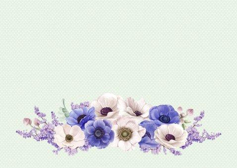 Jubileumkaart anemonen 65 jaar 3