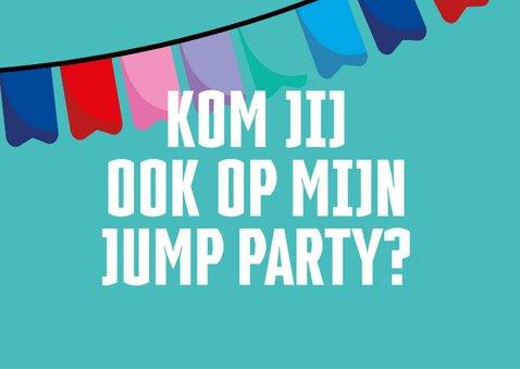 Jump XL kinderfeestje uitnodiging Jongen/Meisje 2