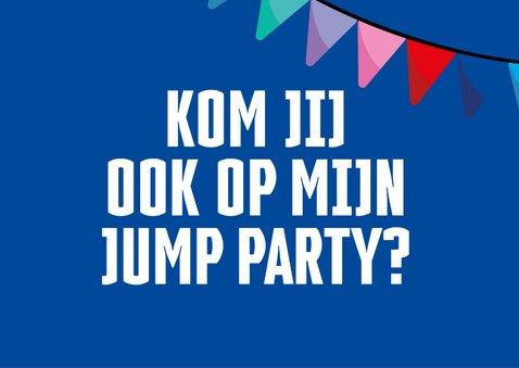 Jump XL kinderfeestje uitnodiging Jongen 2