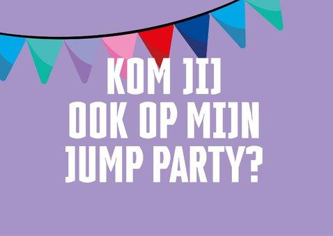 Jump XL kinderfeestje uitnodiging Meisje 2