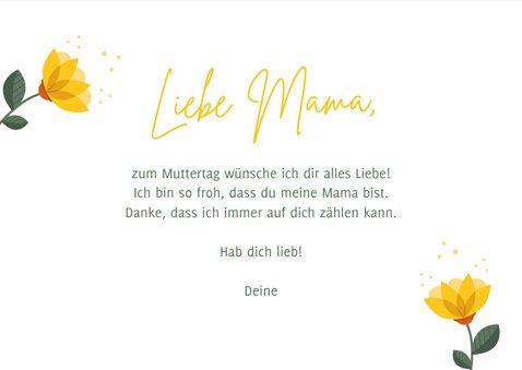 Karte zum Muttertag gelbe Blumen 3
