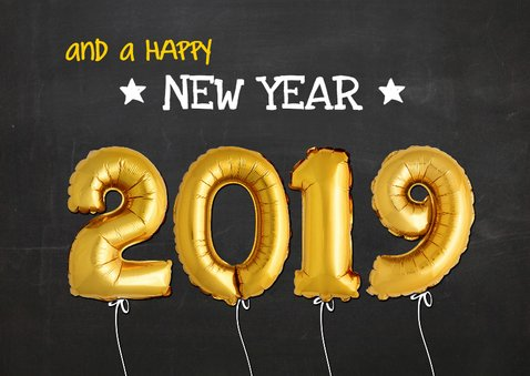 kerst ballon goud xmas 2019 op krijtbord 2