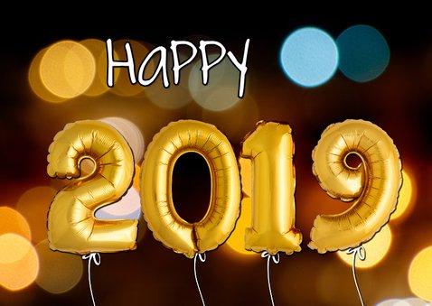 Kerstkaart ballonnen goud xmas 2019 2